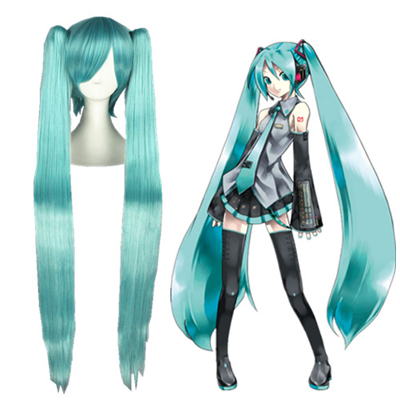 Vocaloid Hatsune Miku Lake Blue Cosplay Wigs