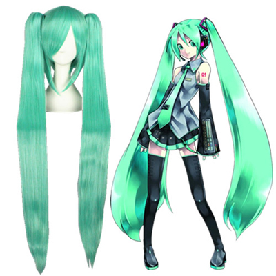 Vocaloid Hatsune Miku Grün Faschings Cosplay Perücken