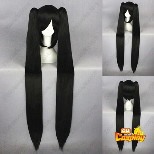 D.Gray-man Linali Lee 120cm Preto Perucas Cosplay
