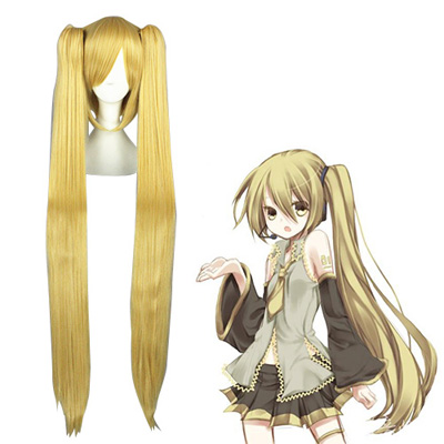 Vocaloid Akita Neru Golden Cosplay Wigs