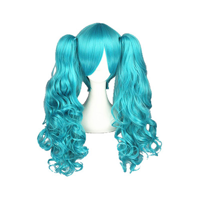Vocaloid Hatsune Miku Blue 65cm Fashion Cosplay Wigs