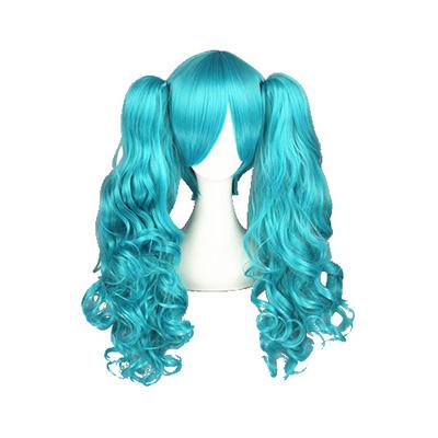 Vocaloid Hatsune Miku Blu 65cm Parrucche Cosplay
