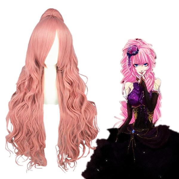 Vocaloid Megurine Luka Roze 90cm Cosplay Pruiken