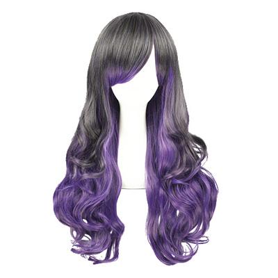 Японский Харадзюку Лолита Taro Пурпурный 65cm Косплей Парик