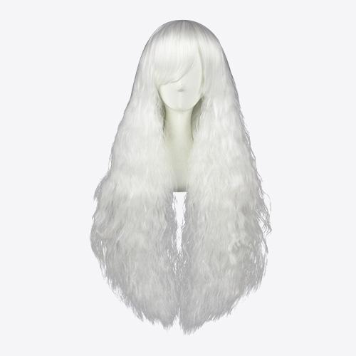 Lolita Japanisch Harajuku Süß 90cm Weiß Cosplay Perücken