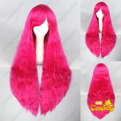 하라주쿠 로리타 패션 일본어 단 90cm 담홍색 코스프레 가발