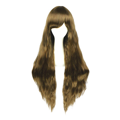 Harajuku Lolita Japanese Sweet Zipper 90cm Brown Cosplay Wigs