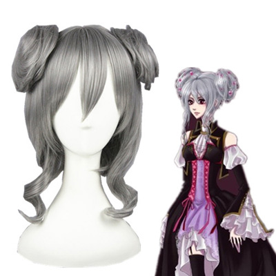 Vocaloid Haku 45cm Silver Fashion Cosplay Wigs