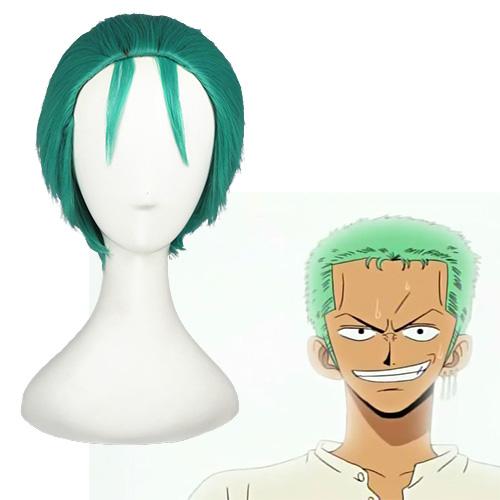 One Piece Roronoa Zoro 2 anos depois Grass Verde Perucas Cosplay
