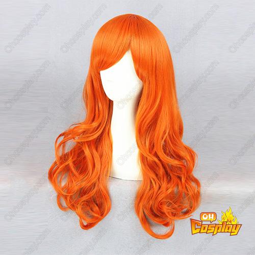 원피스 Nami 주황색 65cm 코스프레 가발