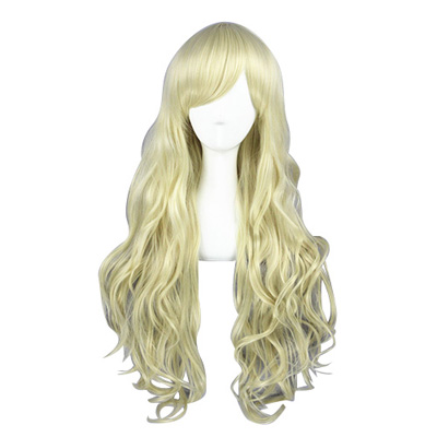 Japanese Harajuku Lolita 80cm Light Blonde Cosplay Wigs