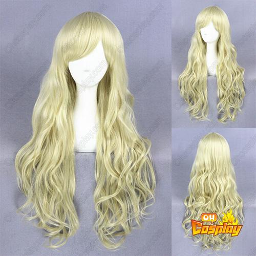 Japanner Harajuku Lolita 80cm Licht Blonde Cosplay Pruiken