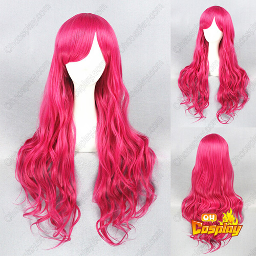 Japonês Harajuku Lolita Fofa Rose Vermelho Perucas Cosplay