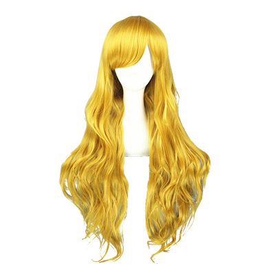 Japanese Harajuku Lolita Cute Golden 80cm Cosplay Wig