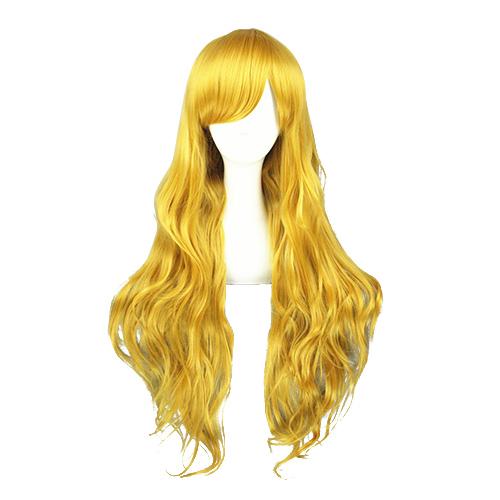 Japanner Harajuku Lolita Schattig Gouden 80cm Cosplay Pruiken