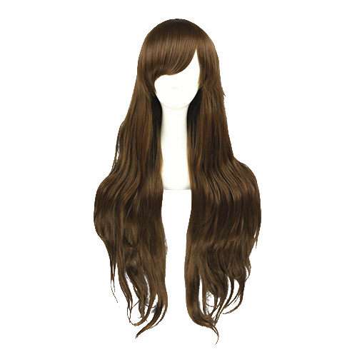 일본어 하라주쿠 로리타 패션 단 갈색 코스프레 가발