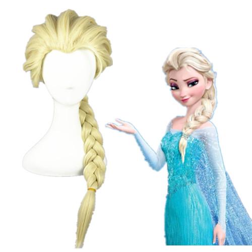 Frozen Elsa Hellblond 50cm Cosplay Perücken