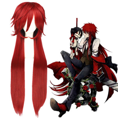 Black Butler Grell Sutcliff Red Fashion Cosplay Wigs