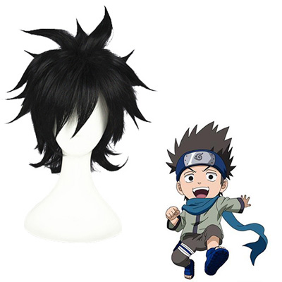 Naruto Sarutobi Konohamaru Black Fashion Cosplay Wigs