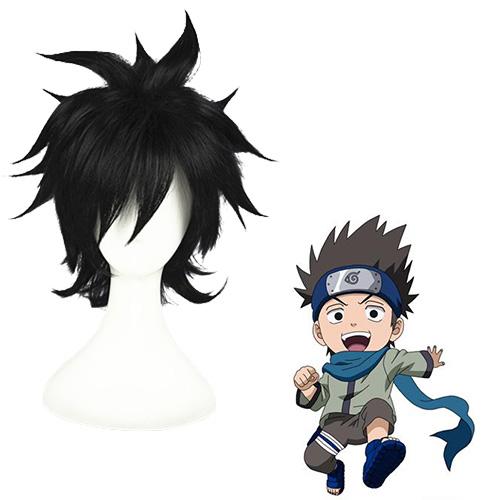Naruto Sarutobi Konohamaru Schwarz Cosplay Perücken