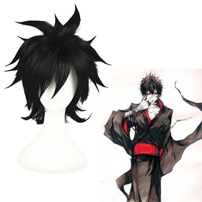 Katekyō Hitman Reborn! Hibari Kyoya Black Cosplay Wig