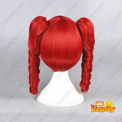 보컬로이드 Kasane Teto 40cm 빨간 코스프레 가발
