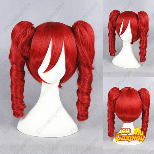 Vocaloid Kasane Teto 40cm Vermelho Perucas Cosplay