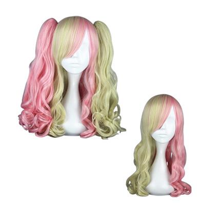 로리타 패션 일본어 하라주쿠 귀엽다 50cm 코스프레 가발