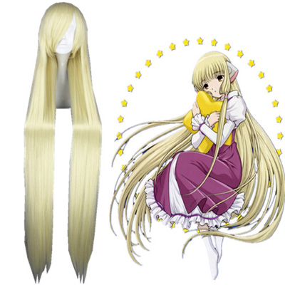 Pelucas Chobits Eruda Cream 130cm Cosplay