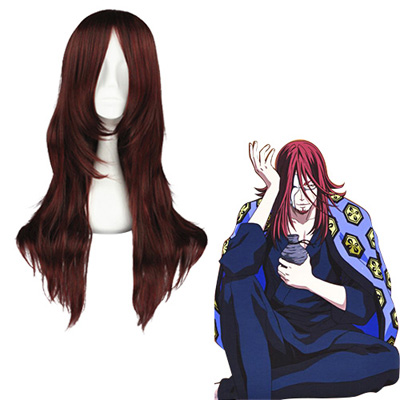 D.Gray-man Cross Maria Dark Red 65cm Cosplay Wigs