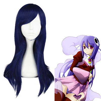The World God Only Knows Haqua Bleu Foncé Perruques Carnaval Cosplay
