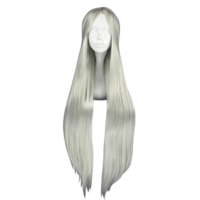Carve Long Straight Silvery-White 100cm Cosplay Wigs