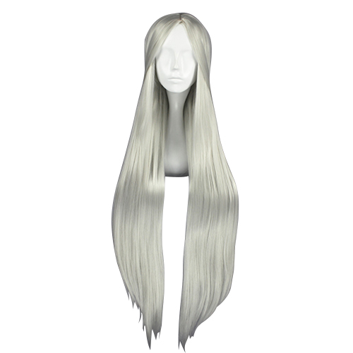 Carve Lang Straight Zilvery-Wit 100cm Cosplay Pruiken