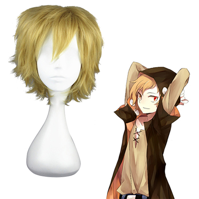 Kagerou project Kano Shuuya Light Yellow Cosplay Wigs