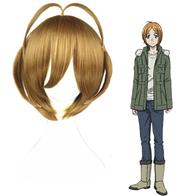 Blast of Tempest Hanemura Megumu Golden Brown Cosplay Wigs