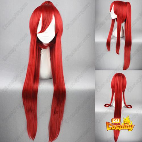 마법소녀 마도카☆마기카 Kyoko Sakura 빨간 코스프레 가발
