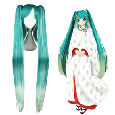 Vocaloid Snow Miku Aqua Blue Cosplay Wig