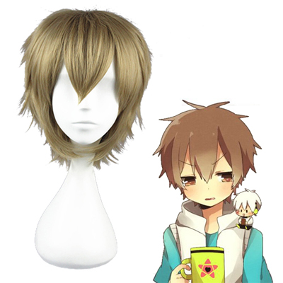 Kagerou project Hibiya Linen Perucas Marrom Cosplay