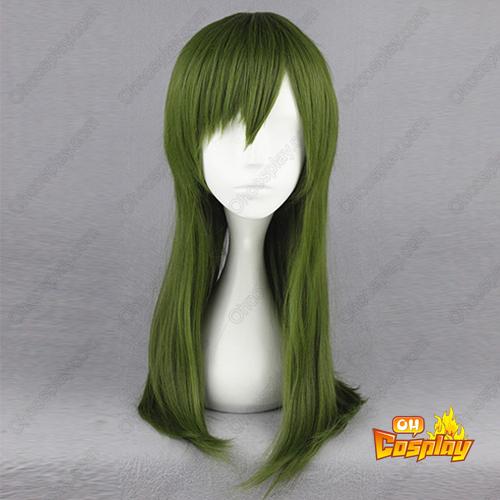 Kagerou project Kido Tsubomi 짙은 녹색 코스프레 가발