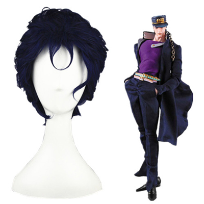 JoJo's Bizarre Adventure Kujo Jotaro Blue-Black Fashion Cosplay Wigs