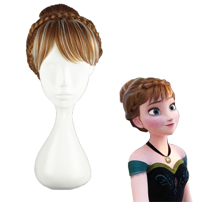 Frozen Anna Braun 30cm Faschings Cosplay Perücken