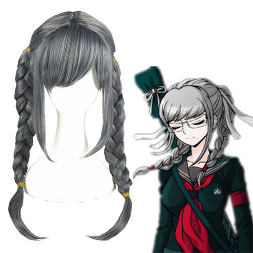 Danganronpa 2: Goodbye Despair Peko Pekoyama 화이트 코스프레 가발