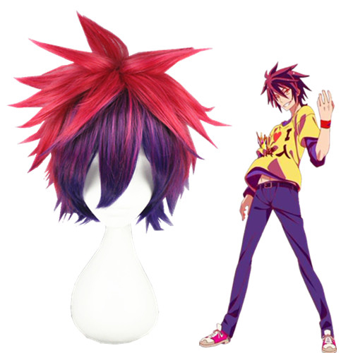 No Game No Life Sora 32cm Parrucche Cosplay