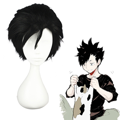 Haikyū!! Kuroo Tetsurou Black Fashion Cosplay Wigs
