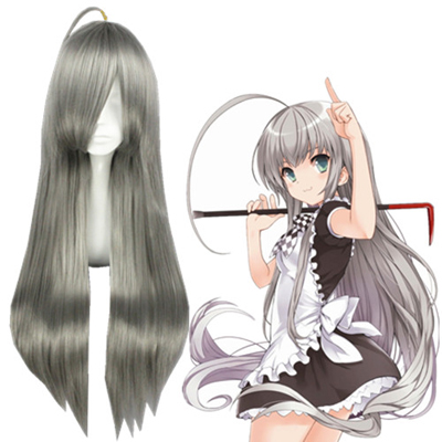 Nyaruko: Crawling with Love Nyaruratohotepu Gray Cosplay Wigs
