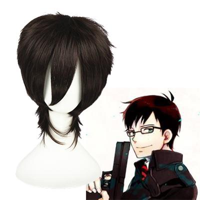 청의 엑소시스트 Okumura Yukio 어두운 갈색 코스프레 가발