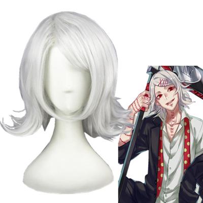 Tokyo Ghoul Juzo Suzuya Sølvhvitt Cosplay Parykker