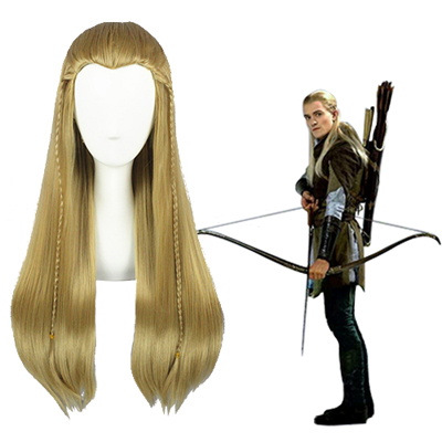 The Lord of the Rings Legolas Marrom Claro Perucas Cosplay