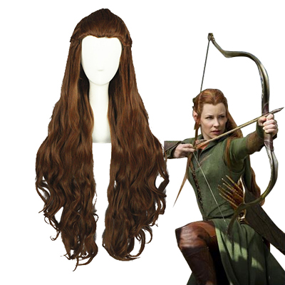 The Hobbit Tauriel Brun Cosplay Parykker