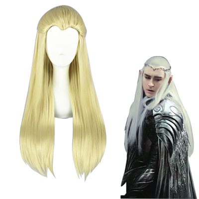 The Hobbit Thranduil Ljus Guld Cosplay Peruker